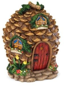 Pine cone fairy house athttp://www.amazon.com/Fairy-Village-House-in-Pinecone/dp/B004A9HCP8/ref=pd_sim_sbs_lg_2