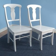 Target Marketing Systems Set of 2 Empire Wooden Dining Chairs White * Want to know more, click on the image.Note:It is affiliate link to Amazon.