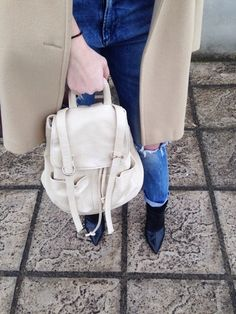 The Camel Coat #fashion #outfit #outfits #beauty #bloggers #priestessofstyle #style #fashionpost #fashionblogger #priestess #jeans #shoes #nike #backpack #coat #priestess #greece #greek #blondehair #girl Jeans Shoes, Camel Coat, Leather Backpack, Greece, Backpacks, Sunglasses, Nike, Heels, Boots