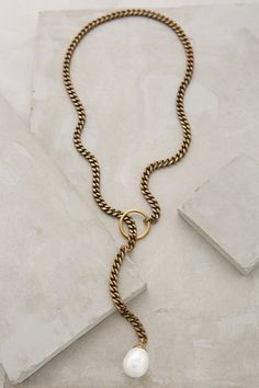 Pearl Lariat Necklace #anthrofave #anthropologie.com