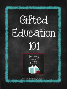 Gifted Education 101: Every teacher has students who are gifted in their classrooms. Whether they have been formally identified or not, they have academic and social needs which need to be met. I have started a series of posts on my blog about teaching students who are gifted and talented. Come and follow as I explain what teaching gifted students looks like in my classroom.