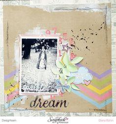 DT Scrapbook Werkstatt- Simple Stories - Enchanted - Layout von Diana Rohm