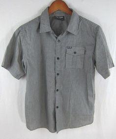 3269d0211d5 Zoo York Boys Shirt 16-18 Large Black Pinstripe Short Sleeve  ZooYork   ButtonDown  Everyday