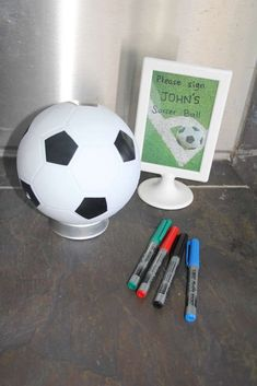HT's Birthday / John's Soccer Pool Party - Photo Gallery at Catch My Party Soccer Party Favors, Soccer Birthday Parties, Football Birthday, 9th Birthday, King Birthday, Birthday Ideas, Sports Party, Sleepover Party, Impreza
