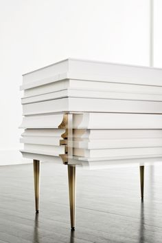 Frame Nightstand Withe FRA-03B Frame Collection Design by Luis Pons