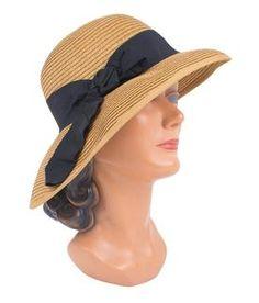 2b3579ff716 Magid Ribbon Sun Hat ha1024s ribbon sun hat toast black Trashy Diva
