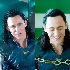 Loki smile vs Tom Smile.  #TomHiddleston #Loki #ThorRagnarok #LokiDay #LokiSmile #TomHiddlestonSmile