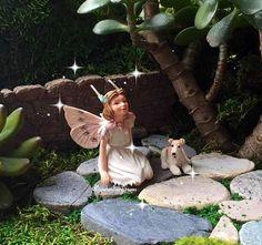 Miniature fairy Flower fairy Cicely Mary by DreamFairyGardens
