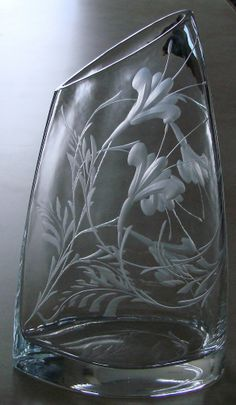 Hand Engraved Crystal by Catherine Miller of Catherine Miller Designs*Technique-Stone wheel *
