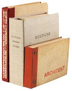 Deutsche Warenkunde [with] Architekt [and] Rempen U. Kreutzmann Stuttgart I - Price Estimate: $1500 - $2500 Paper Board, Grey Outfit, Wallpaper Samples, Old Paper, Ring Binder, Bauhaus, 1930s, Art Decor, How To Apply