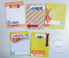 Handmade Journaling cards using Hey Kid collection