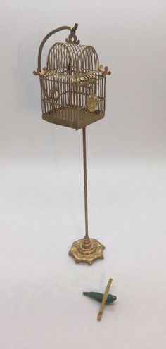 Dollhouse Miniature Artisan Kummerow Metal Birdcage