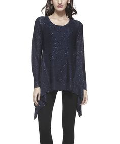 This Blue Sequin Sidetail Tunic - Women is perfect! #zulilyfinds
