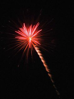 Red Fireworks by Cynthia Woods