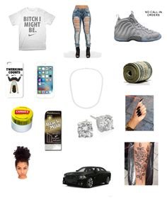 """""""Untitled #152"""" by augustalsinawiffeeyyy on Polyvore featuring NIKE, Simon Frank, Carmex, GUESS and Crislu"""