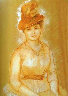 Portrait of a Woman - Pierre-Auguste Renoir Pierre Auguste Renoir, August Renoir, Renoir Paintings, Impressionist Artists, Free Art Prints, Portraits, Oil Painting Reproductions, Famous Artists, Pop Art