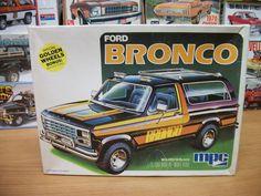 1980 Ford Bronco 4x4 1979 MPC Unbuilt in Open Box Golden Wheels Kit | eBay