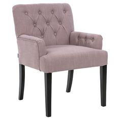Der schöne Vintage Sessel mit Knopfmuster erinnert an bereits vergangene Jahre und verleiht Deiner Wohnung eine Menge Charme.