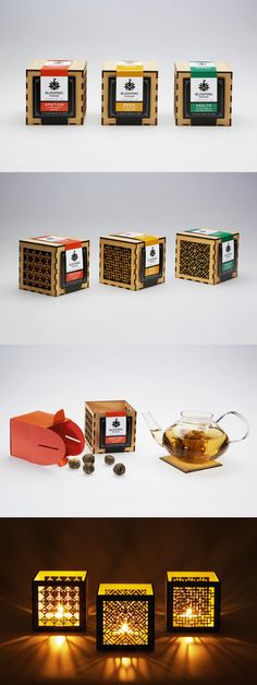 Packaging concept for a flowering tea brand