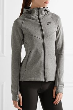 Nike - Tech Fleece Cotton-blend Jersey Hooded Top - Gray - x small