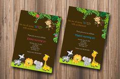 jungle birthday invitations - Buscar con Google
