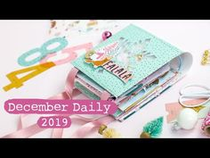 December Daily 2019 - Process Video Filofax Diy, Travelers Notebook, Glam Planner, Midori, How To Make Scrapbook, Vintage Birthday Cards, Mini Album Tutorial, Card Sentiments, Happy Birthday Images