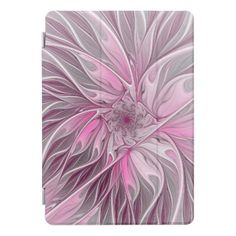 Fractal Pink Flower Dream Floral Fantasy Pattern iPad Pro Cover - modern gifts cyo gift ideas personalize