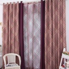 Lackout Thermal Polyester Fabric Curtain Plain Curtains, Shabby Chic Curtains, Grey Curtains, Country Style Curtains, Custom Made Curtains, Chenille Fabric, Curtain Fabric, Plaid Pattern, Green Colors