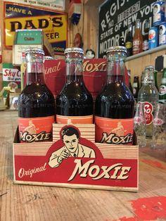 Vintage Moxie Ted Williams soda bottles pack