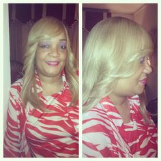 Braidless install using 2 bundles of luxe lengths brazilian custom color blonde install two bundles his and her hair full sew in pmusecretfo Choice Image