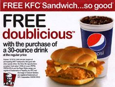 Kfc Coupons PROMO expires May 2020 Hurry up for a BIG SAVERS KFC is a well-known chicken restaurant chain in the United States. Mcdonalds Coupons, Kfc Coupons, Free Printable Coupons, Free Coupons, Free Printables, Golden Corral Coupons, Great Clips Coupons, Boston Market, Discount Coupons