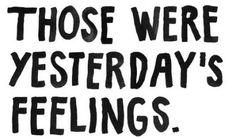 Each day start fresh.