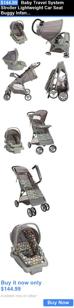 baby kid stuff: Baby Travel System Stroller Lightweight Car Seat Buggy Infant Toddler Ikat Dots BUY IT NOW ONLY: $144.99