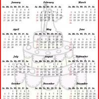 Printable Monthly Quiz Calendar  FreeprintableCom  Calendars
