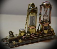 стимпанк флешка,ДНК,моторизованная флешка,манометр,мотор,steampunk flash drive