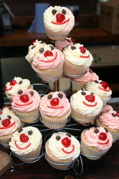 Red Nose day cupcakes at AVFF March 2011 Vanilla Cupcakes, Mini Cupcakes, Red Nose Day Cupcakes, Cupcake Tray, Cupcake Images, Crazy Hair Days, Tea Ideas, Messy Play, Red Fruit