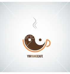 Coffee cup yin yang background vector 4496189 - by Pushkarevskyy on VectorStock®