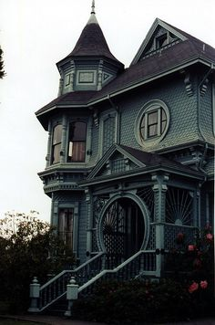 Check out that porch! The bay window portion of this tower would make a killer window seat!