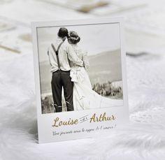remerciements ides thankyoucards wedding polaroid vintage - Carte De Remerciement Mariage Pas Cher