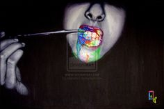Pruebalo by on DeviantArt Oil On Canvas, Halloween Face Makeup, Art, Art Oil