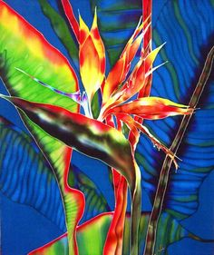 silk painting by julie jennings at Coroflot.com