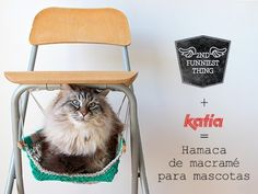 Craft Lovers ♥ Hamaca para mascotas por 2nd Funniest Thing - Lanas Katia - Blog