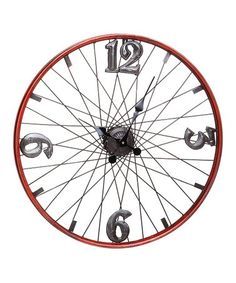 Evergreen Bicycle Wheel Metal Clock - The Home Depot Bicycle Decor, Bicycle Tires, Bicycle Art, Bicycle Clock, Bicycle Crafts, Bike Craft, Bicycle Design, Wallpaper B, Metal Clock
