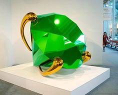 Jeff Koons Green Diamond Sculpture Collection Richard Perry, New York Jonge Cohen Jonge K. Levene Fine Art, Ltd. Jeff Koons Art, Modern Art, Contemporary Art, Neo Pop, Green Diamond, Art Institute Of Chicago, Art World, Installation Art, Feng Shui