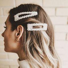 Pearl Barrettes, Pearl Hairclip (Alambra & Allegro)