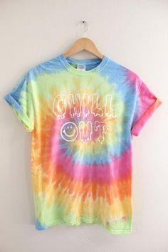 Chill Out Pastel Tie-Dye Graphic Unisex Tee by oliviaroseinc Hippie Party, Motifs Aztèques, Casual Outfits, Cute Outfits, Pastel Tie Dye, How To Tie Dye, Tie Dye Shirts, Unisex, Tye Dye