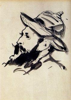 Head of a Man (Claude Monet) - Edouard Manet - 1874
