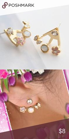 Dainty fashion stud earrings Set of 3 Pairs Tiny stylish earrings. Great for teen or young girls. Set of 3 pairs for $8 Jewelry Earrings