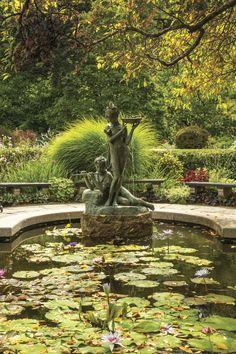Easy Garden, Lawn And Garden, Gardening For Beginners, Gardening Tips, Victoria Magazine, Fall Floral Arrangements, Garden Entrance, Rural Retreats, Lily Pond