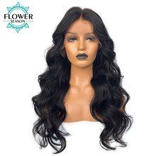 FlowerSeason Silk Base Full Lace Human Hair Wigs With Baby Hair Wavy Peruvian Remy Hair Wig Bleached Knots 130 Density Human Synthetic Lace Front Wigs, Synthetic Hair, Body Wave Wig, Wave Hair, Remy Hair Wigs, Cheap Wigs, Cheap Human Hair, Human Hair Lace Wigs, Wig Hairstyles